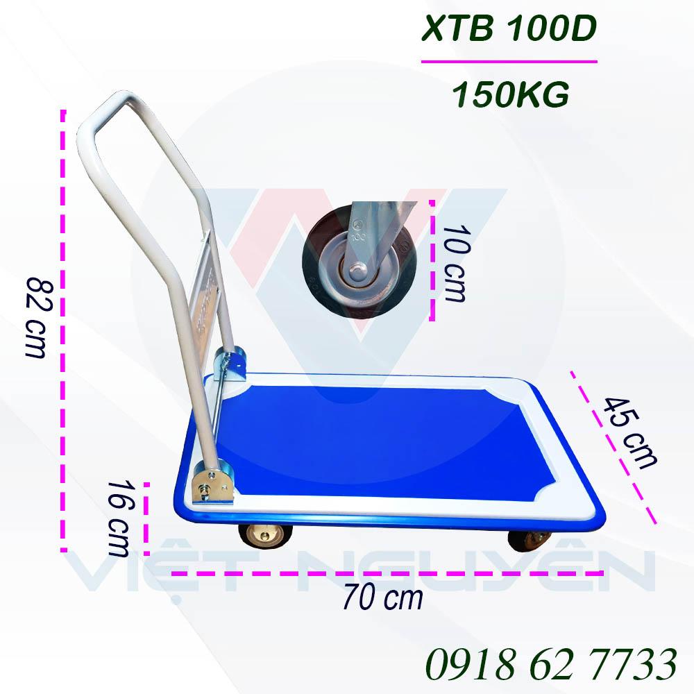Ưu điểm xe đẩy hàng 4 Bánh Phong Thạnh XTB 100D
