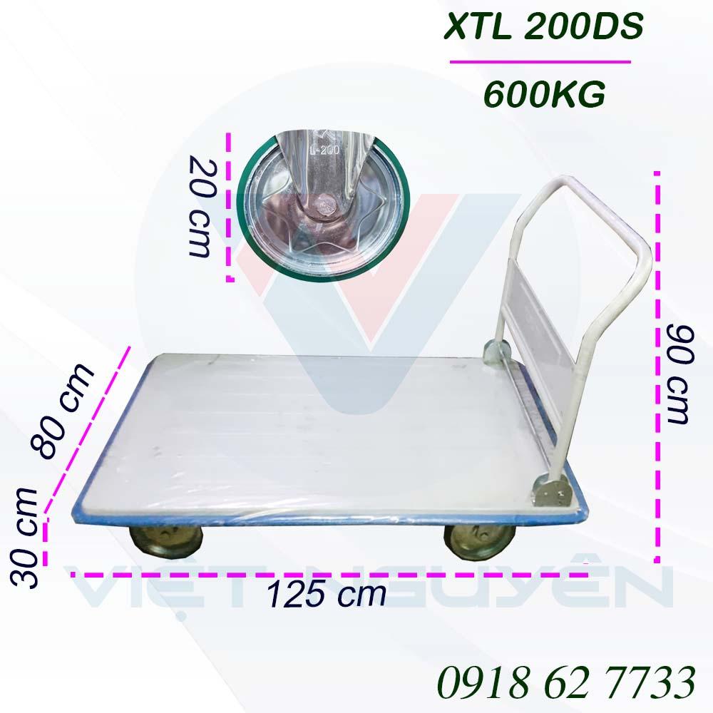 Thông số kỹ thuật xe đẩy 4 bánh 600Kg XTL 200DS Phong Thạnh