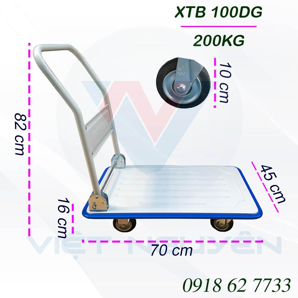 Thông số kỹ thuật Xe Đẩy Hàng 4 Bánh Phong Thạnh XTB 100DG 200Kg
