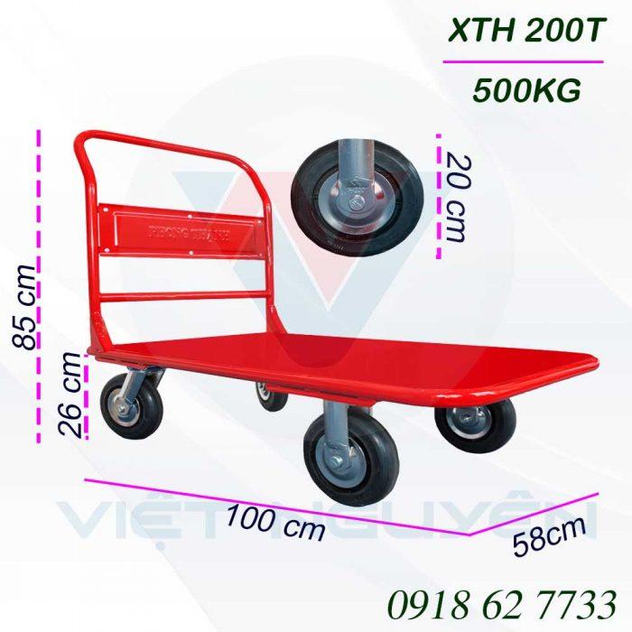 Thông tin kỹ thuật chi tiết xe đẩy hàng 4 bánh XTH 200T